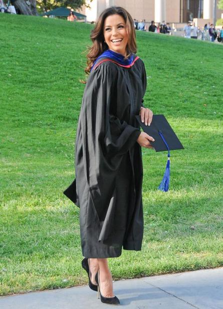 Eva Longoria graduates, earns master's degree in Chicano Studies from Cal State Northridge - NY Daily News
